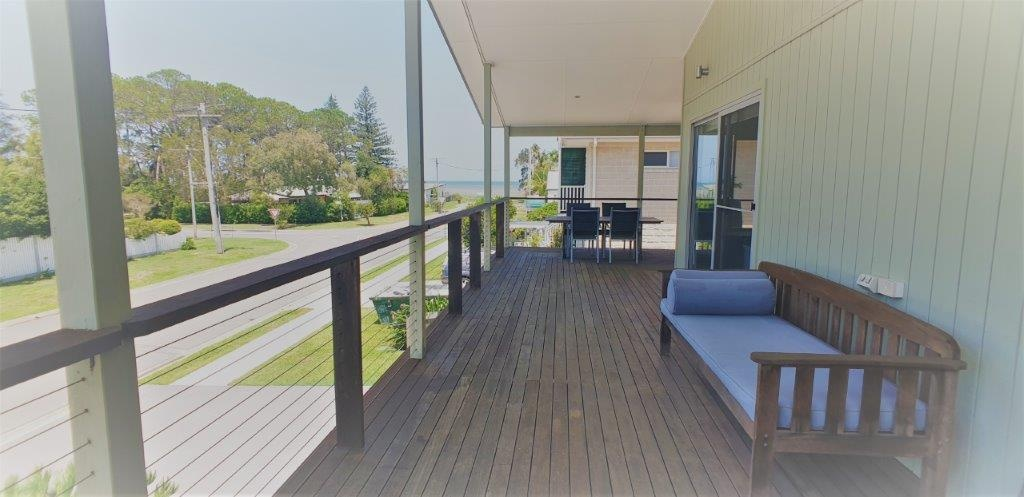 front deck with water view